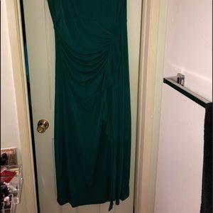 Lane Bryant Dresses - Sexy Green ruched dress